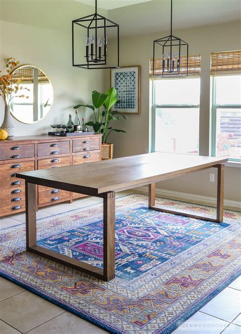 Homemade-Modern-Diy-Dining-Table