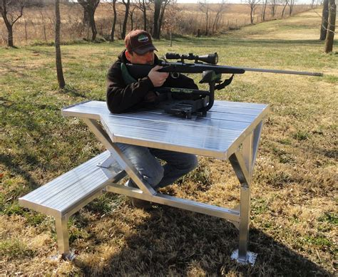 Homemade-Steel-Portable-Shooting-Bench-Plans