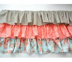 Best Homemade ruffle crib skirt