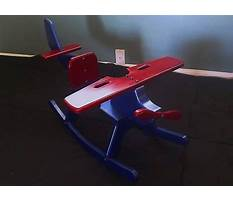 Best Homemade wood rocking airplane toy