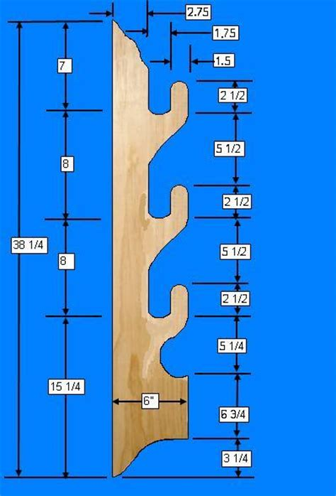 Horizontal Gun Rack Template