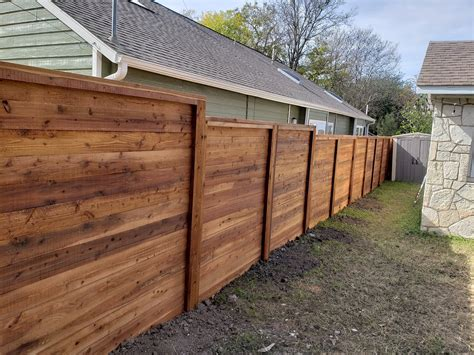 Horizontal Wooden Fence Designs