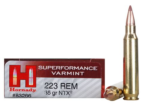 Hornady Superformance Varmint Ammo 223 Remington 35 Grain Ntx And Champlin Firearms Gun Vault Quality Firearms