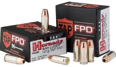 Hornady Tapfpd 9mm Luger Flex Shock Ammo And Imi 9mm Carbine Ammo