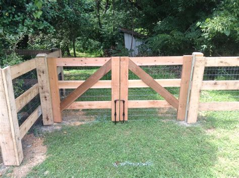 Horse Paddock Wood Fence Diy