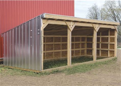 Horse Shelter Plans Simple Outdoor
