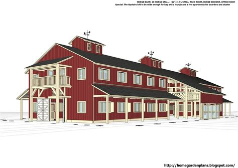 Horse Stable Barn Plans