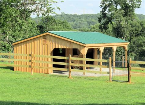 Horse Stable Plans For 2 Horses