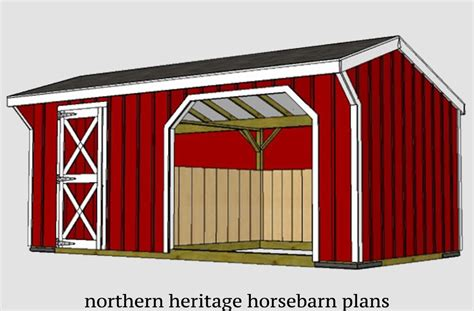 Horse-Run-In-Shed-With-Tack-Room-Plans