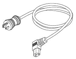 Hospital Grade Power Cord (15a @ 125vac, Left Angle, 8 Ft.) RPC771