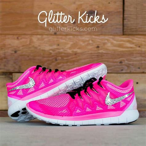 Hot Pink Glitter Nike Sneakers