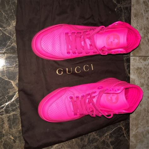 Hot Pink Gucci Sneakers