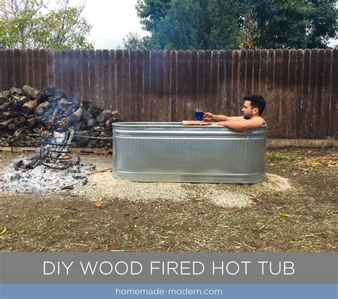 Hot Tub Wood Fired Diy Room