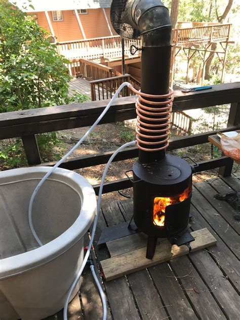 Hot Tub Wood Stove Diy Fan