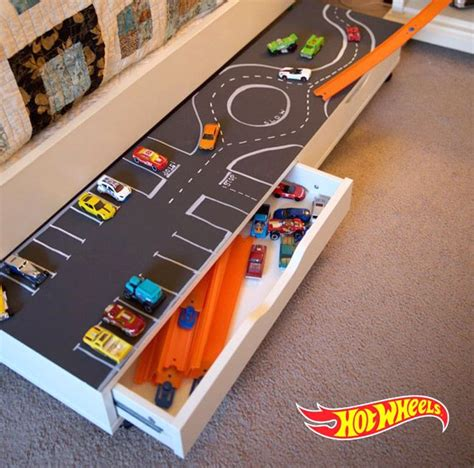 Hot Wheel Car Storage Diy For Cubbies
