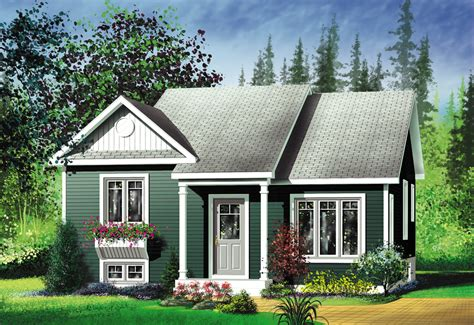 House Building Plans For Two Bedroom Cottage With Garage