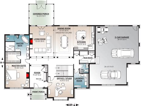 House Floor Plans With Large Garage