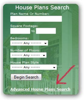 House Plans Advanced Search Options