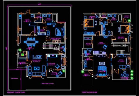 House Plans In Autocad For Download Free