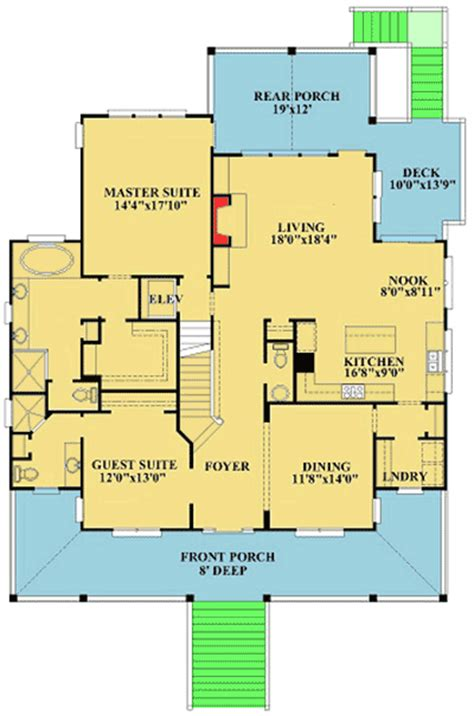 House Plans With Elevators Included