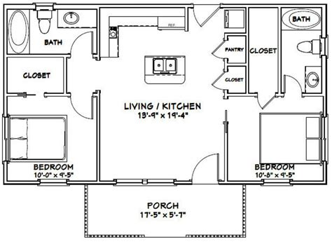 House-Plans-2-Bed-1-Bath-Split