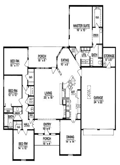 House-Plans-Single-Level-3-Bed-2-Bath
