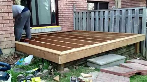 How Build Deck Patio Youtube