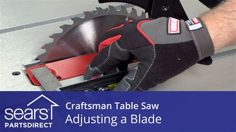 How To Adjust Blade On Craftsman Table Saw