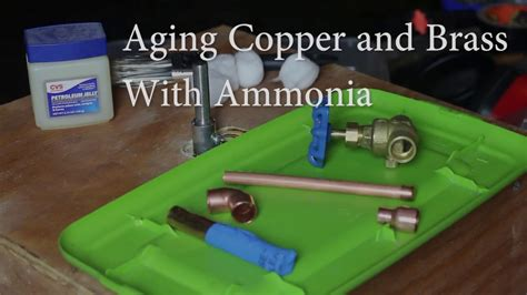 How To Age Brass With Ammonia