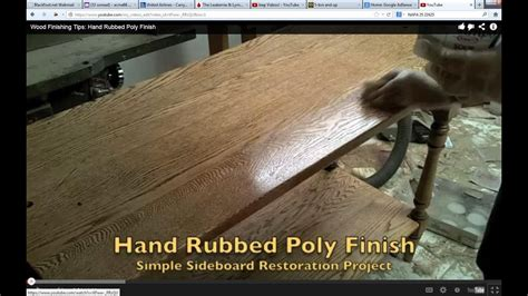 How To Apply Hand Rubbed Polyurethane Finish