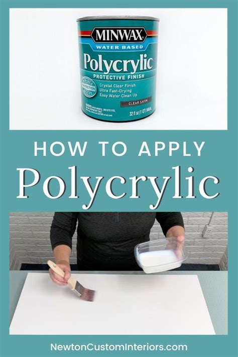 How To Apply Minwax Polycrylic Over Paint