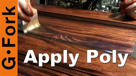 How To Apply Polyurethane Over Stain