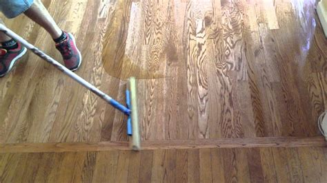 How To Apply Polyurethane To Wood Floors Youtube Tv