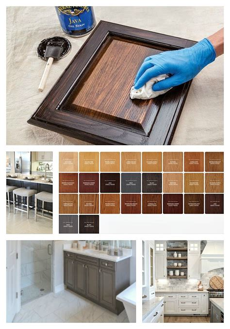 How To Apply Stain To Kitchen Cabinets