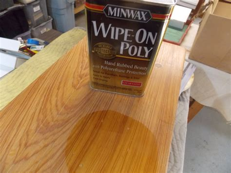 How To Apply Wipe On Polyurethane To Tabletop