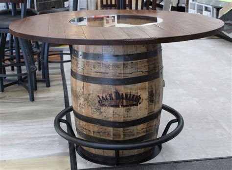 How To Attach A Tabletop To A Whiskey Barrel