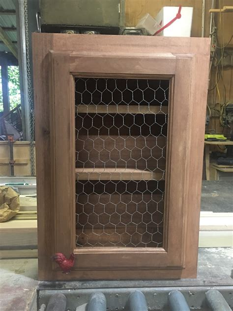 How To Attach Chicken Wire To A Cabinet Door