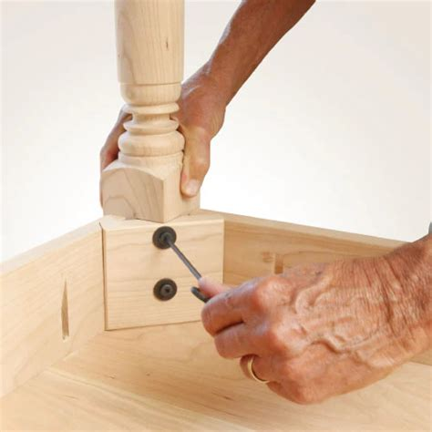How To Attach Table Legs Without Apron Front Kitchen