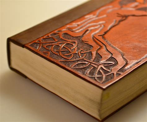 How To Bind Wooden Book With Leather Cord