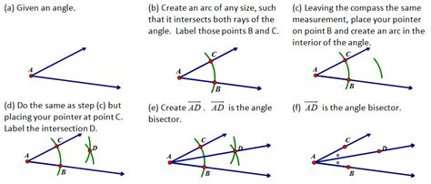 How To Bisect An Angle First Step
