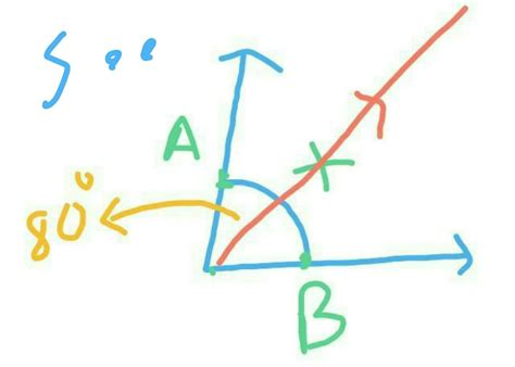 How To Bisect An Angle Of 80 Degrees