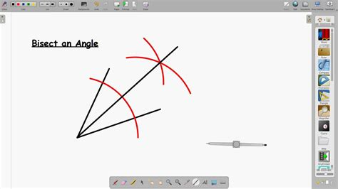 How To Bisect An Angle With A Protractor Device