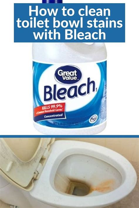 How To Bleach A Stained Toilet