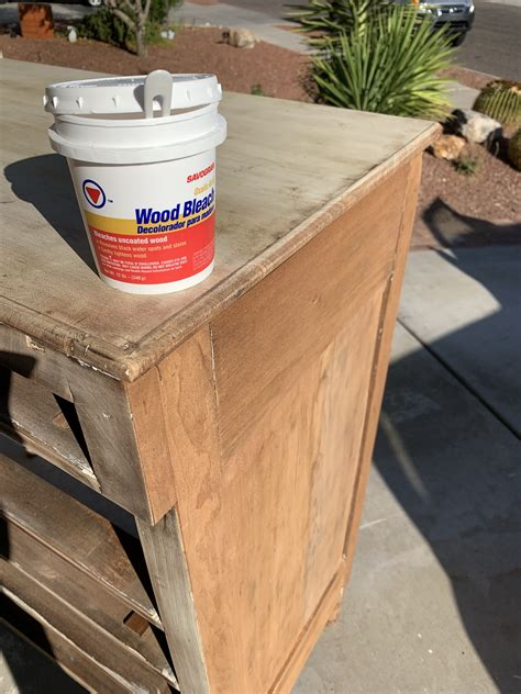 How To Bleach Wood With Household Bleach