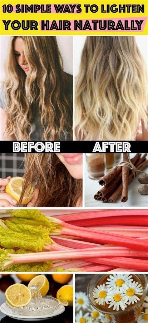 How To Bleach Your Hair Naturally