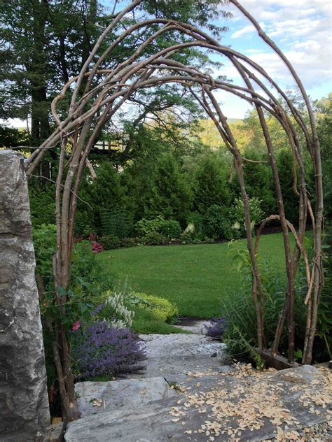 How To Build A Arbor Rustic