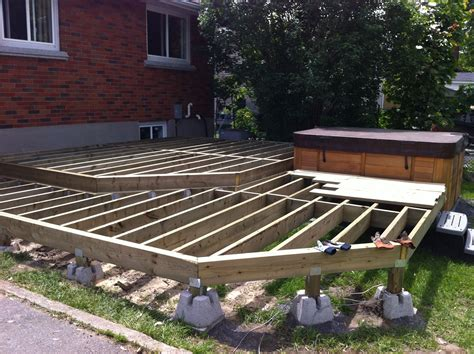 How To Build A Basic Deck On The Ground With Concrete Deck Block