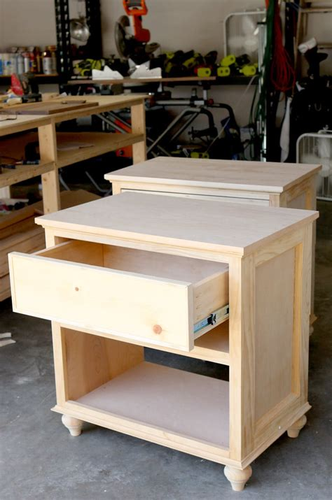 How To Build A Bedside Table With Drawers