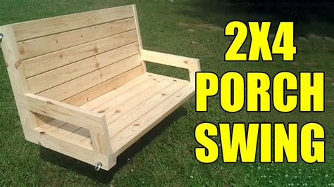 How To Build A Bench Swing With 2x4