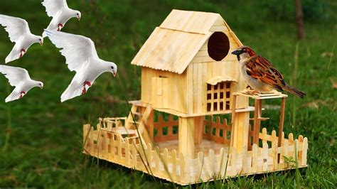 How To Build A Birdhouse Out Of Popsicle Sticks